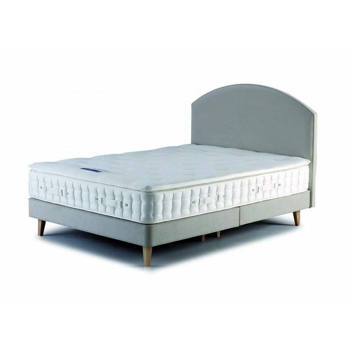 Hypnos Shallow Open Coil Firm Edge Super King Size Zip & Link Divan On Legs for £806.00