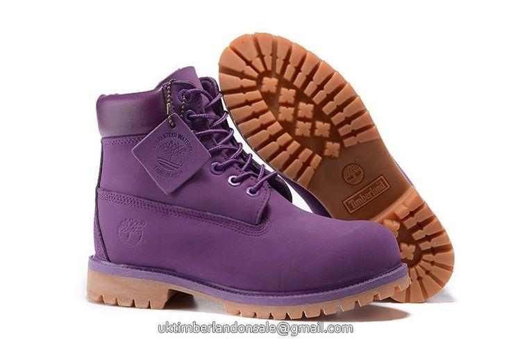 UK Timberland Big Kid 6 Inch Premium Waterproof Purple Boots £ 56.79