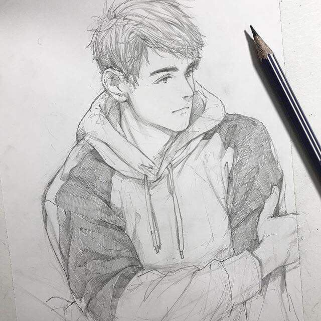 Pin By Saikat On Anime Portrait Anime Drawings Sketches Cute Drawings Cool Art Drawings