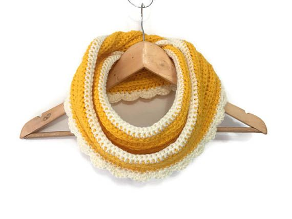 Crochet Infinity Scarf crocheted scarf neck wrap neck