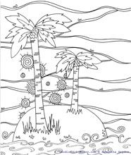 nature coloring pages palm tree coloring pages tree coloring pages - Palm Tree Beach Coloring Page