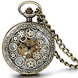 sparen25.de , sparen25.info#9: JewelryWe Retro Zahnrad Ritzel Hohe Openwork Handaufzug Mechanische Taschenuhr Skelett Uhr…sparen25.com