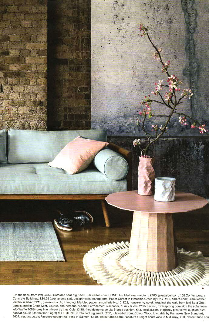 RSW concrete wallpaper featured in @mywarehousehome