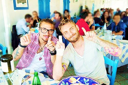 Pablo Osvaldo and Daniele De Rossi, AS Roma.