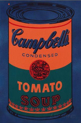 オールポスターズの アンディ・ウォーホル「Colored Campbell's Soup Can, c.1965 Blue & Orange」ポスター