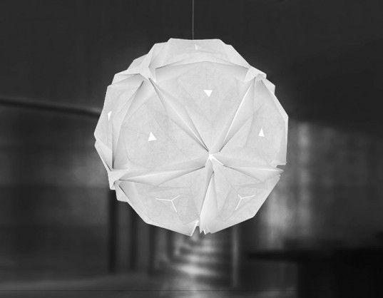 Jiangmei Wu Creates Beautiful Origami Inspired Pendant Lamps With  Sustainable Materials. Origami LampOrigami FoldingPaper ...