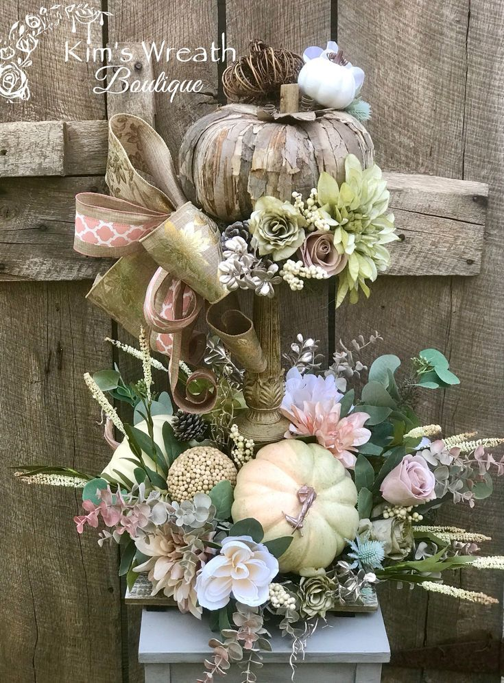 Excited To Share This Item From My Etsy Shop Fall Centerpiece Fall Floral Centerpiece Pu Fall Centerpiece Rustic Fall Centerpieces Fall Floral Centerpieces