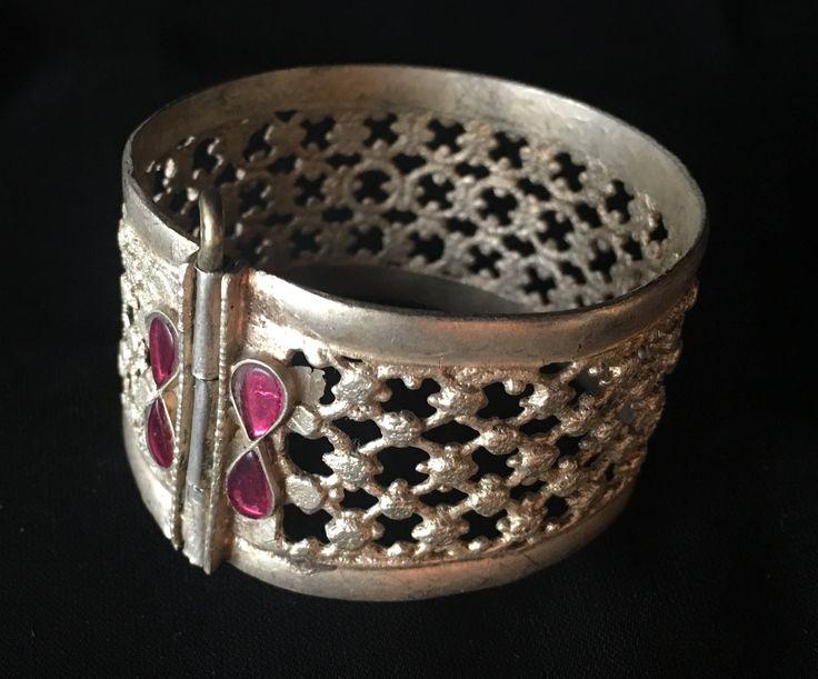 Vintage Afghani  Cuff Tribal Bracelet Tribal Bangle Jewelry Gypsy Bracelet Ethnic Bracelet Tribal Belly Dance Jewelry... by JewelsofNomads on Etsy