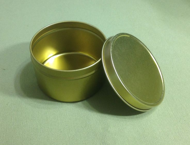 8 oz Gold Tin Container (2 Pack)