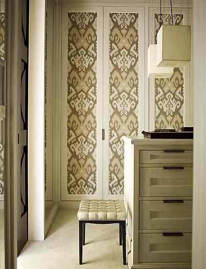 I could stencil or wallpaper the closet doors to dress them up