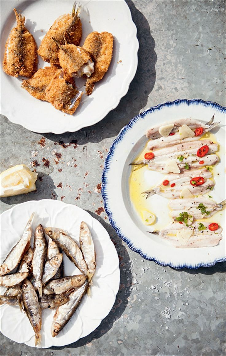 Fried anchovies recipe by Katie Caldesi | Cooked