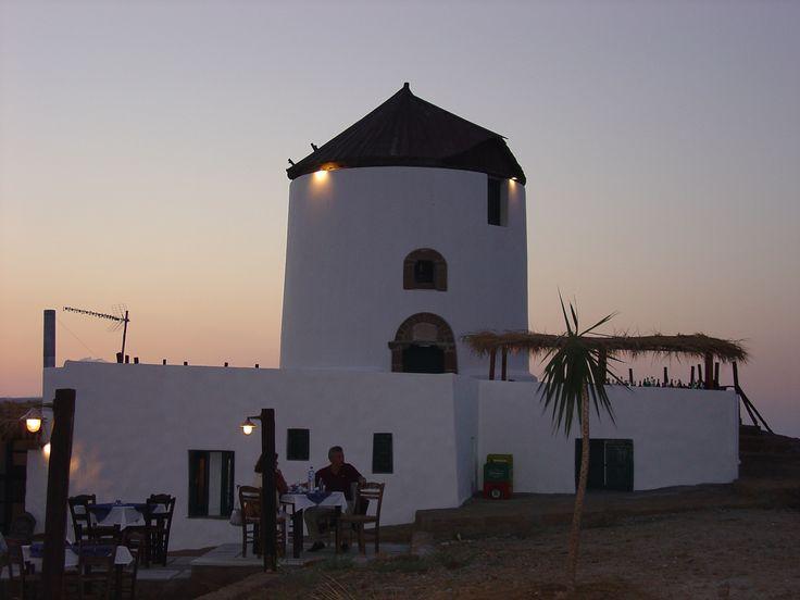 Tavern in Windmill.. Skyros island