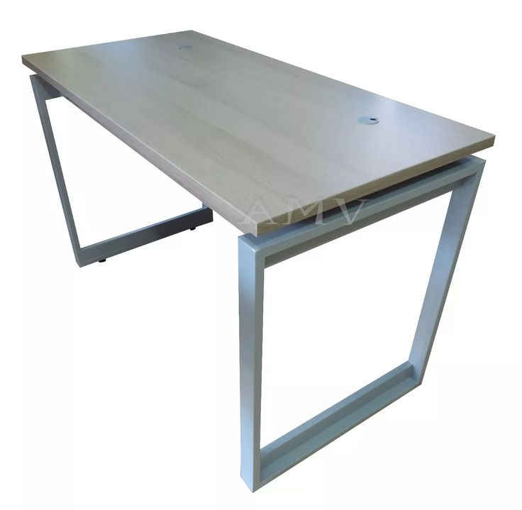 escritorio melamina 25mm cantos pvc estructura metalica