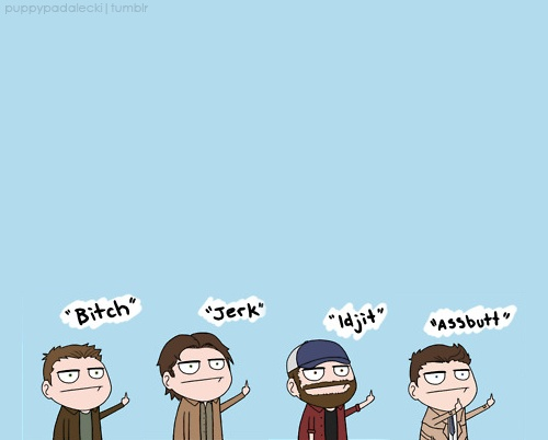 Cartoon Characters 3 Fingers : Best images about supernatural on pinterest cartoon