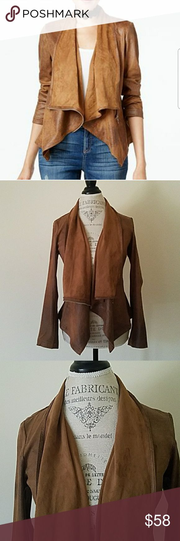 INC Brown Jacket - NWOT - Brown,  light, ..  throw over anything jacket!!! - Size is XS but fits more like a  size (S) ?? Head Turner ?? New from Macy's ??I ship same day! ? Posh, Bundle to Save!!  ? Comes with free gift & Brandy Melville Stickers!! INC International Concepts Jackets & Coats Utility Jackets