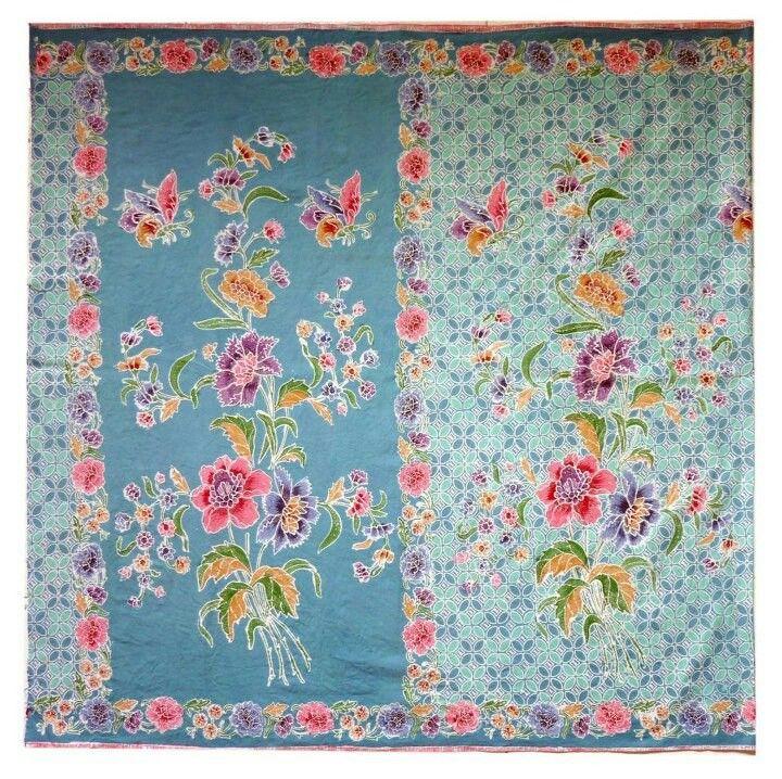 Peranakan style batik sarong...birds, flowers + butterflies...Gorgeous !