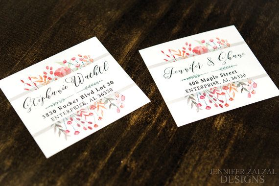 Floral Rustic Personalized Return Address Labels   Custom Floral Stationery