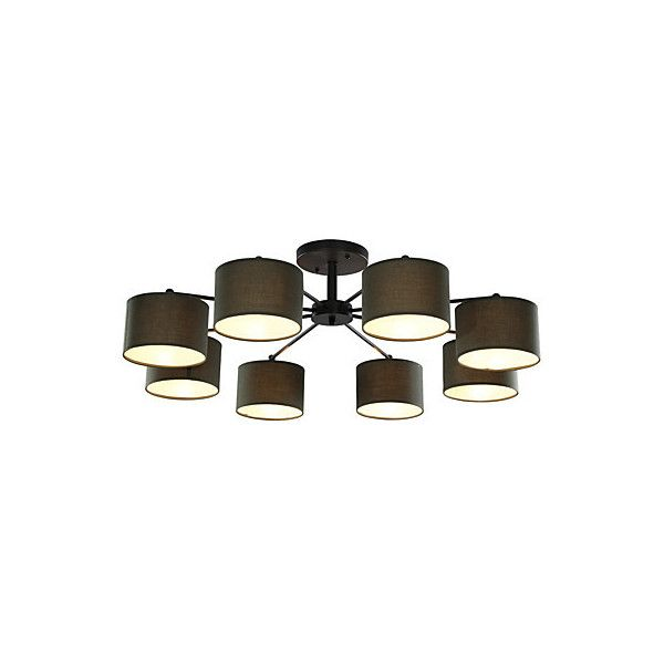 8 Light 39 inch Ceiling Light Fixture, Black And White ($255) ❤ liked on Polyvore featuring home, lighting, ceiling lights, array0x25a6a4d0, black and white lamp and t8 light