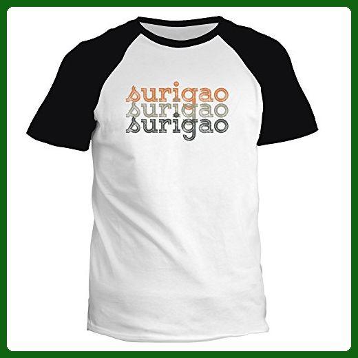 Idakoos - Surigao repeat retro - Cities - Raglan T-Shirt - Retro shirts (*Amazon Partner-Link)