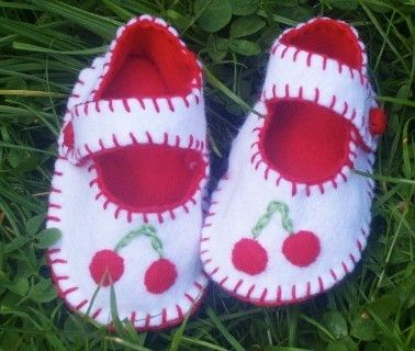 Cherry  Baby Shoes by WithHugsandKisses on Etsy, $17.99