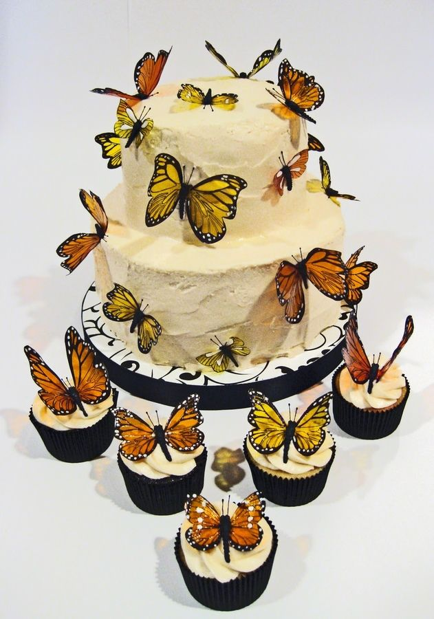 I would love to make this cake and have also made the butterflies out of sugar!