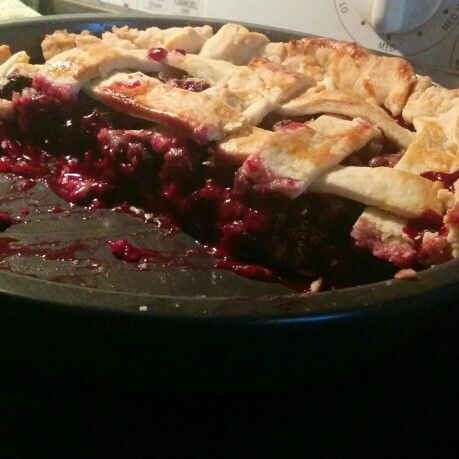 My start to summer pie baking. Blueberry yummy