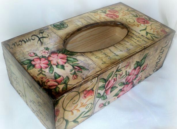 Decoupage tissue box