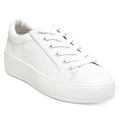 Steve Madden Bertie Sneakers - white sneakers, white leather sneakers, white…