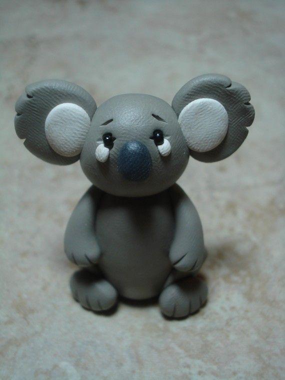 Koala Clay Figurine by ClayCreationsbyLaura on Etsy, $7.00
