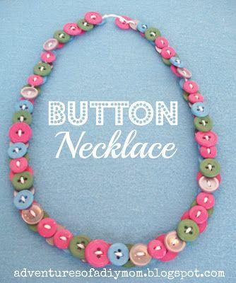 Button Necklaces |Adventures of a DIY Mom