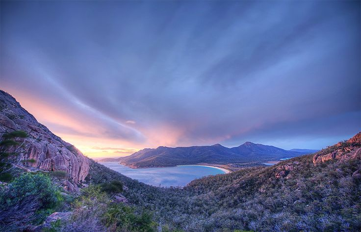 The overlooks of Wineglass Bay in Tasmania | 34 Reasons Australia Is The Most Beautiful Place On Earth