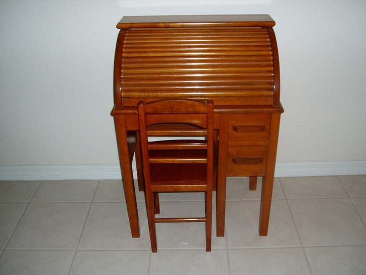 I Had One Like This That My Grandmother Gave Me Sold It Recently Vintage Childs Roll Top Desk W Chair Model