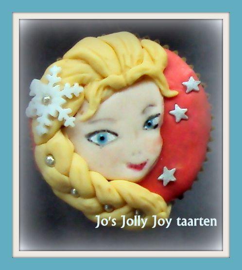 Jo's Jolly Joy taarten; een van de cupcakes, prinses Elsa, uit de film; Frozen