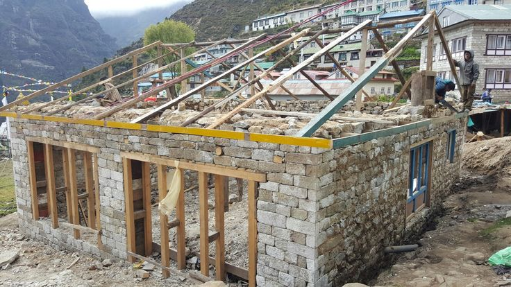 Namche Bazar new roof framing