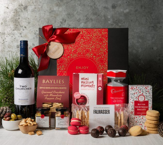 Gift Hampers from Gourmet Basket. Corporate Christmas Gift Hamper. Corporate hamper delivery. Christmas hamper delivery.