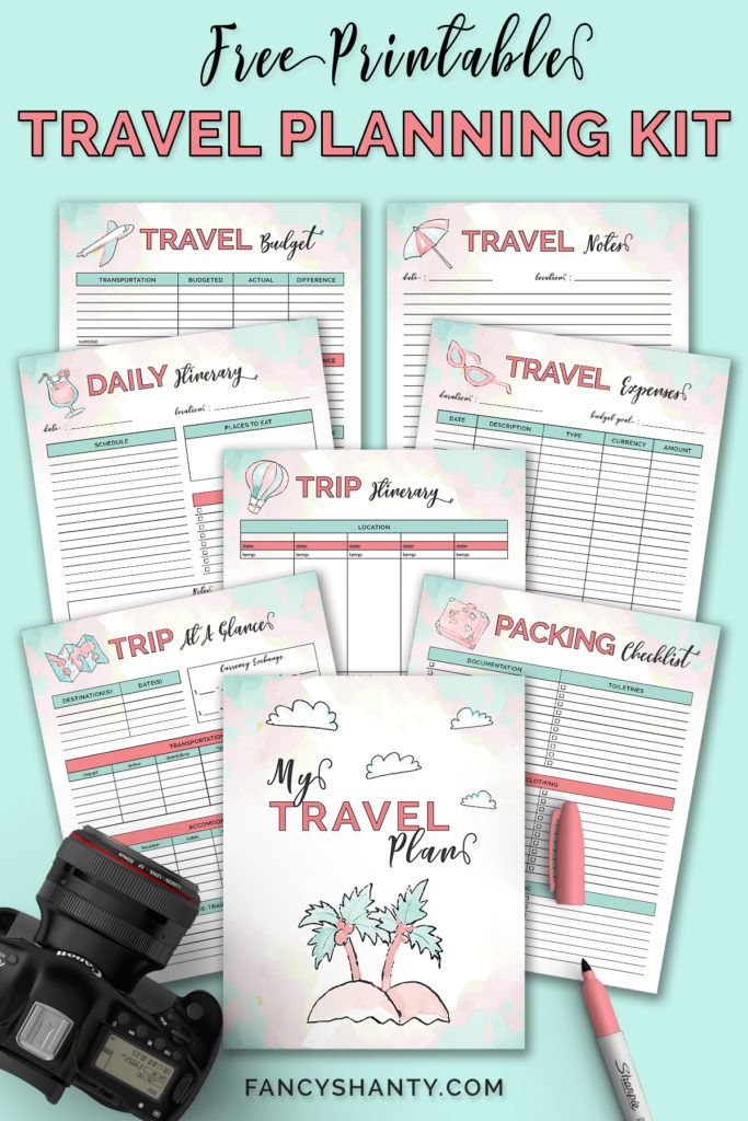 Free Printable Travel Planner Travel itinerary template