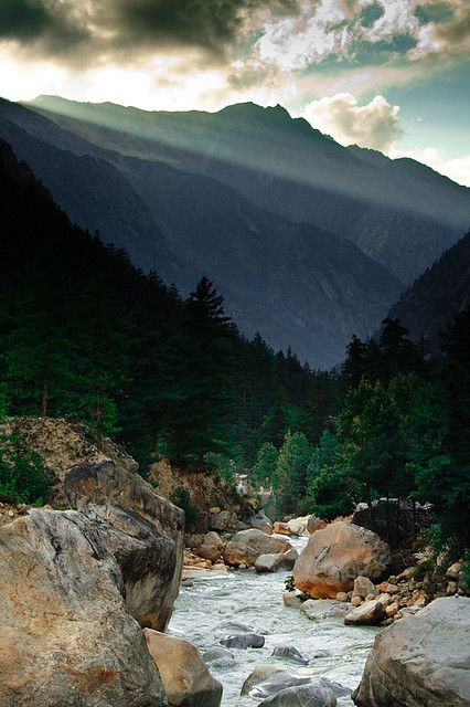 Gangotri, Uttarakhand, India. The sacred source of the Ganges river.