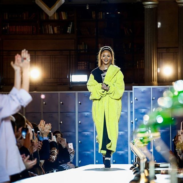 @Rihanna took her bow for the latest @FentyxPuma show in Paris in a  yellow coat  have a  at all the shows on Vogue.nl/shows #pfw  via VOGUE HOLLAND MAGAZINE OFFICIAL INSTAGRAM - Fashion Campaigns  Haute Couture  Advertising  Editorial Photography  Magazine Cover Designs  Supermodels  Runway Models