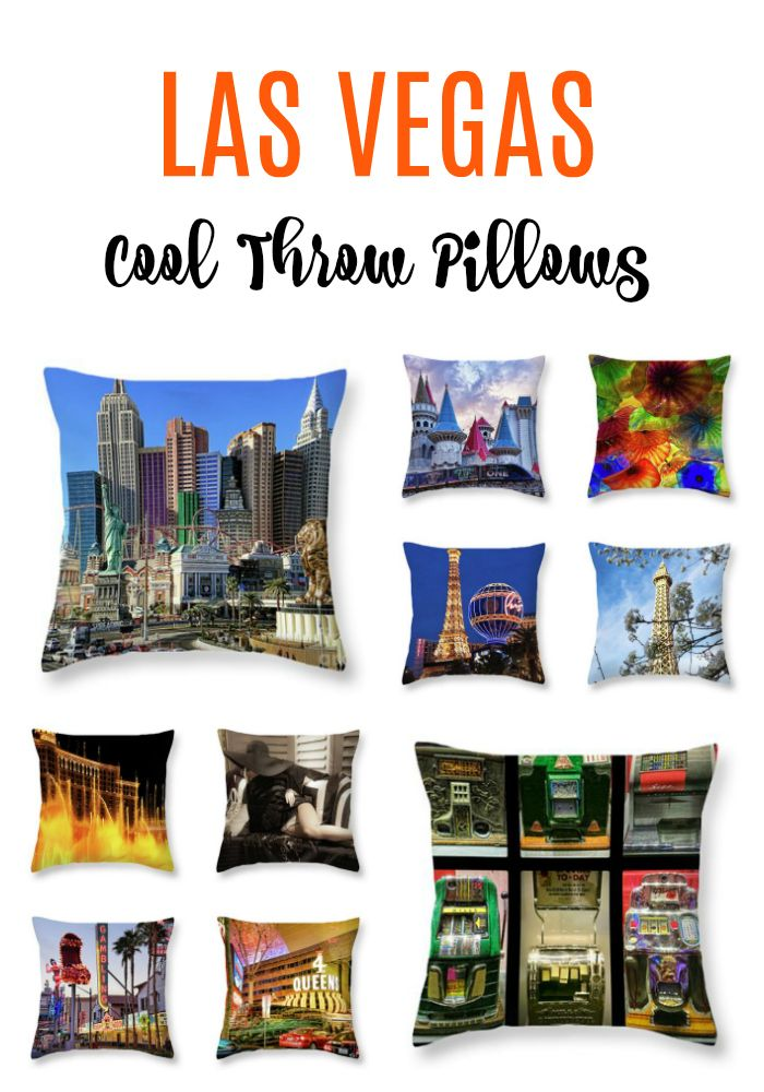 Las Vegas cool throw pillows make great home decor souvenirs and creative gifts for your friends and family! #LasVegas #HolidaysGifts #LasVegasGifts #LasVegasHomeDecor