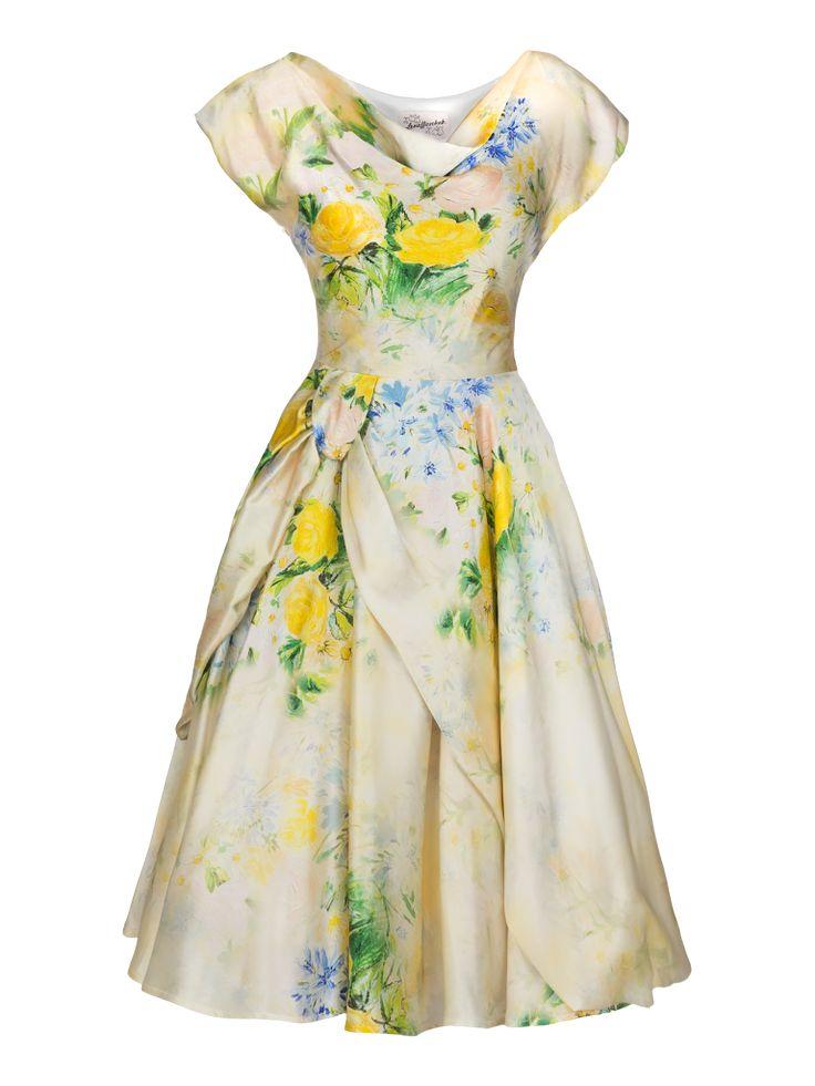 Lena Hoschek S/S 2014 Girlfriend Dress in Lemon Rose