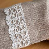 Bread Bag Natural Linen Embellished With Lace.The best solution for the bread storage. Shop on www.oldcourtlinens.ie