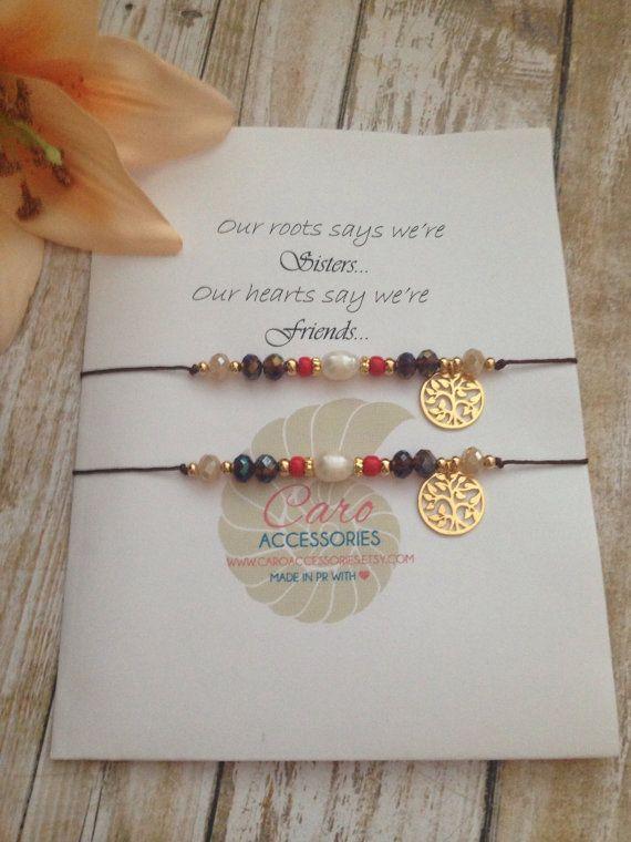 Set se pulseras hermanas. Sister bracelets set.