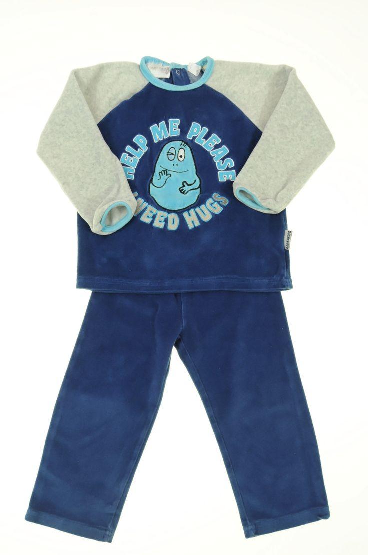 Pyjama velours éponge de la marque Kiabi en taille 3ans - Affairesdeptits vetement occasion enfant bebe pas cher