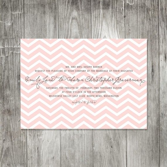 Chevron Wedding Invitation yes please!!