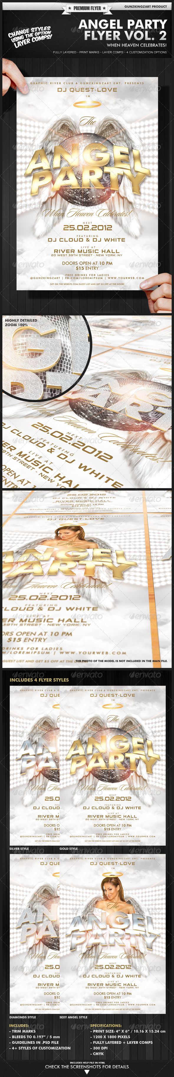 Angel Party Flyer Vol. 2 - Flyer Template