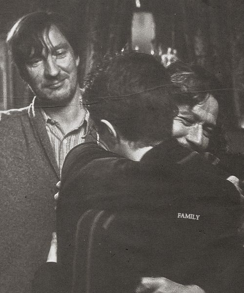 Lupin, Potter & Black. This pic is so precious, it shows the relationship between Harry & Sirius while showing how much their happiness means to Remus.