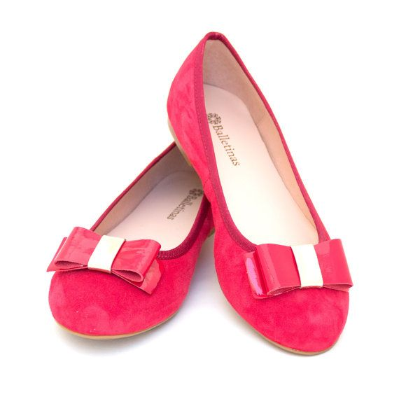 Ballet Flats Marmara Ballerina Pumps Leather Ballet Shoes Coral Sand Aquamarine, Black & Pink.  Handmade, with genuine suede leather.