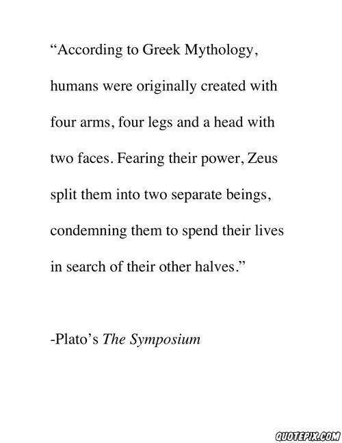 According the Greek Mythology.