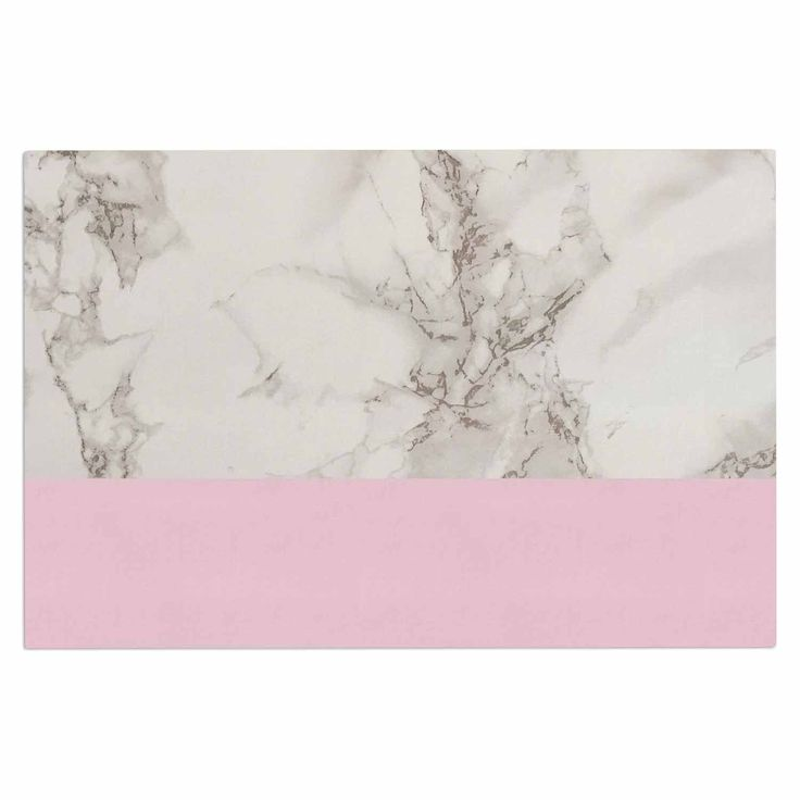 """Suzanne Carter """"Marble And Pink Block"""" Modern Contemporary Decorative Door Mat"""