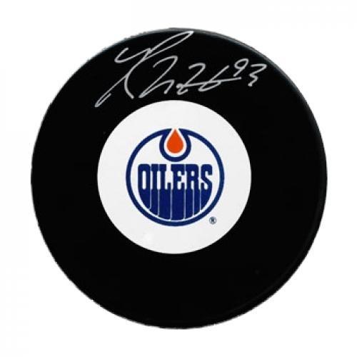 Ryan Nugent-Hopkins Signed Hockey Puck #SportsMemorabilia #EdmontonOilers